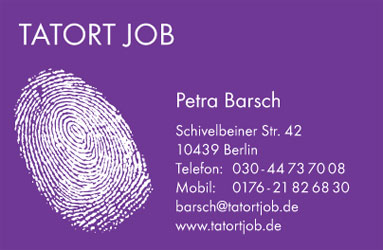 Tatort-Job-Visitenkarte