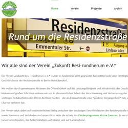 Webseite Verein Zukunft Resi-rundherum